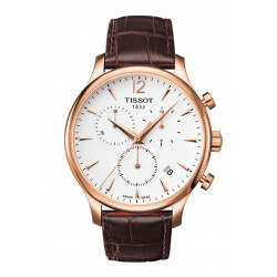 TISSOT TRADITION ROSE GOLS CHRONOGRAPH WATCH  - T0636173603700