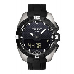 TISSOT T-TOUCH EXPERT SOLAR RUBBER STRAP WATCH  - T0914204705100