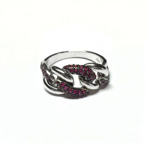 DI PIÙ RING WITH PINK CHAIN - DPR52560