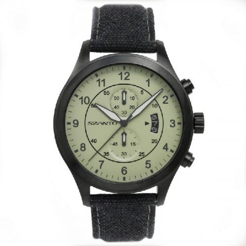 SZANTO WATCH 1200 SERIES BLACK/GREEN - SZ1204