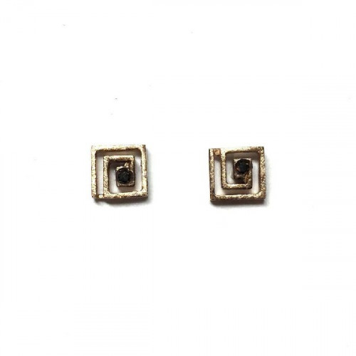 EARRINGS SHAPED SQUARE SPIRAL CLIMENT 1890 - D-6463P/BN