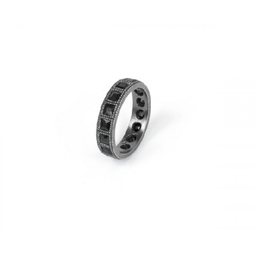 BLACK SUNFIELD RING - AN060150/1