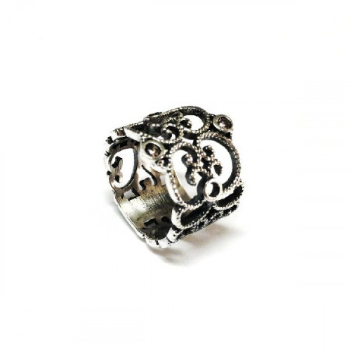 ANILLO TOP SILVER CALADO - AN5423POXI2