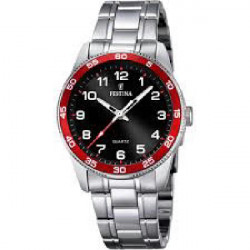 BLACK-RED JUNIOR FESTINA WATCH - F16905/3