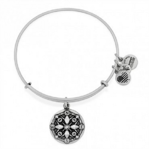 COMPASS ALEX AND ANI BRACELET SILVER COLORED - A16EBCORS