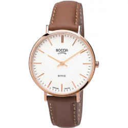 ROSE GOLD BROWN BOCCIA WATCH - R3590-05