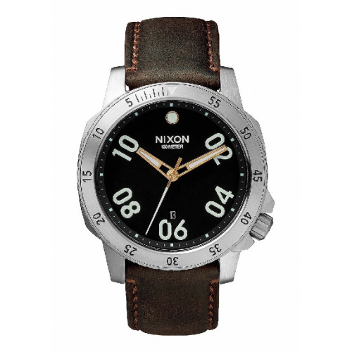 RELLOTGE NIXON RANGER LEATHER BLACK 7 BROWN 44MM - A508019