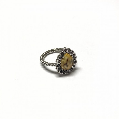 ANILLO TOP SILVER AGATHA FUMÉ - AN5841PMIAP