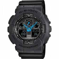 BLACK G-SHOCK CASIO WATCH - GA-100C-8AER
