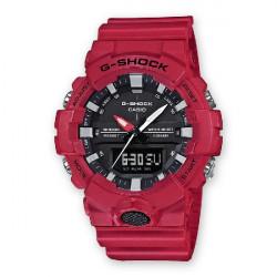 RED CASIO G-SHOCK WATCH - GA-800-4AER