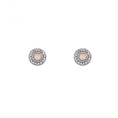 ROSE QUARTZ SUNFIELD EARRINGS - PE061194/15