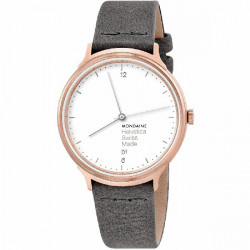 LIGHT ROSE GOLD Nº 1 MONDAINE HELVETICA WATCH - MH1L2210LH