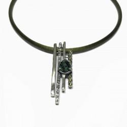GREEN TOP SILVER PENDANT - CL5910P