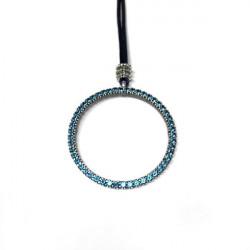 BLUE RING TOP SILVER PENDANT - CO5946PB