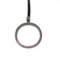 PINK RING TOP SILVER PENDANT - CO5946PL