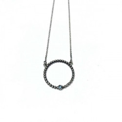 BLUE TOP SILVER NECKLACE - CO5932PB