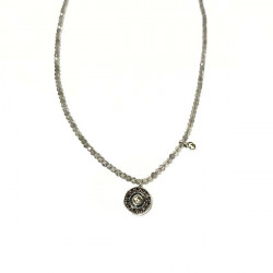 SPINEL TOP SILVER NECKLACE - CO5555PNL