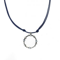 BLUE STARS TOP SILVER NECKLACE - CL5943PB