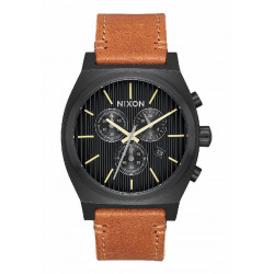 TIME TELLER CHRONO LEATHER BLACK/ STAMPE - A11642664