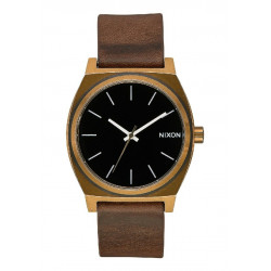 TIME TELLER 37MM BRASS BLACK NIXON WATCH - A0453053