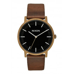 PORTER LEATHER BRASS  BLACK BROWN  - A10583053