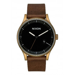 STATION LEATHER  BRASS BLACK BROWN - A11613053