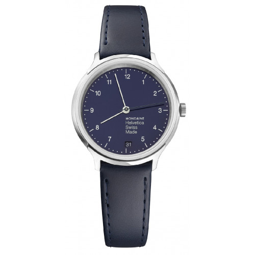 REGULAR BLUE Nº 1 MONDAINE HELVETICA WATCH - MH1R1240LD
