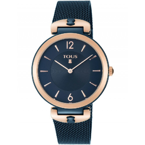 ROSE AND BLUE IP STEEL S-MESH TOUS WATCH - 800350835