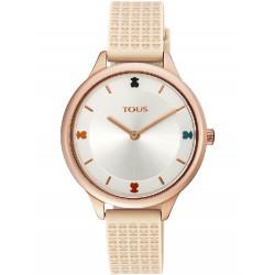 TARTAN IP STEEL ROSE SILICON TOUS WATCH - 900350115