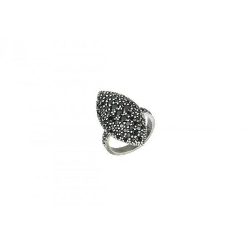 BLACK ZIRCONS SUNFIELD RING - AN061800/22