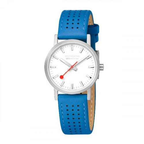 SILVER BLUE CLASSIC SBB MONDAINE WATCH - M6583032316SBD