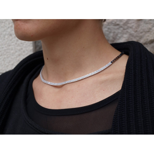 COLLAR LINEARGENT RIVIERE - 11648-C