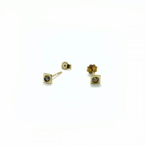 SQUARE CLIMENT 1890 BABY EARRINGS - D-413R/Z