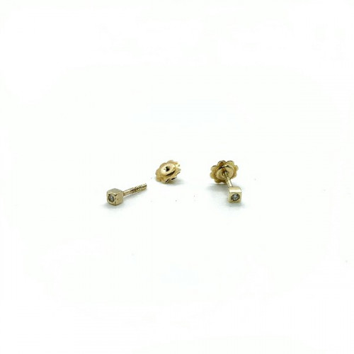 SQUARE CLIMENT 1890 BABY EARRINGS - D-1033R/BR