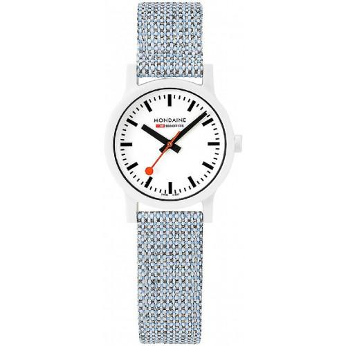WHITE TEXTIL BLUE MONDAINE SBB WATCH - MS132110LD