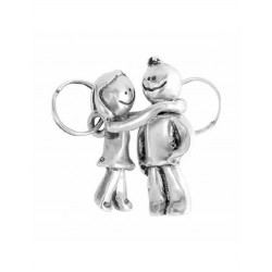 BOY GIRL HUG UNODE50 KEYRING - LLA0008MET X
