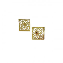 SQUARE LEAVES CLIMENT 1890 EARRINGS - D-2507P3/BR