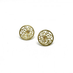 LEAVES CIRCLE CLIMENT 1890 EARRINGS - D-2508P3/BR