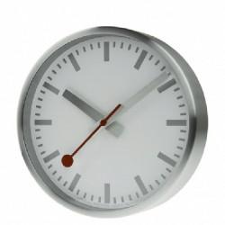 SILVER WALL CLOCK MONDAINE SBB - M990CLOCK17SBV