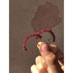 RUBY ALISIA EARRINGS - AL1658ROSE RUBINO