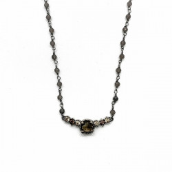 ROSARY TOP SILVER NECKLACE - CO5984PES