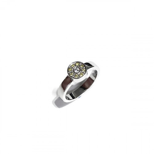 ANELL OR BLANC DIAMANTS - S12-08427