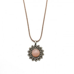 COLLAR SUNFIELD FLOR CUARZO ROSA - CL060660