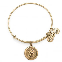 LETTER B PENDAND ALEX AND ANI BRACELET GOLD COLORED - A13EB14BG