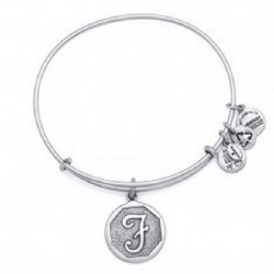 LETTER F PENDAND ALEX AND ANI BRACELET SILVER COLORED - A13EB14FS