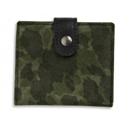COW LEATHER WITH CAMOUFLAGE PRINT WALLET  - ACC10