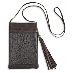 COW LEATHER CROCODILE PRINT BAG  - ACC31