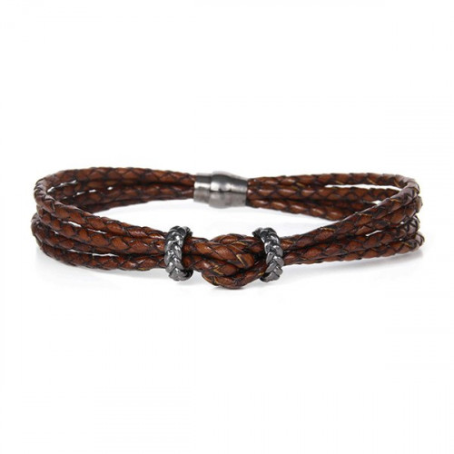 BROWN KNOW MULTILEATHER BRACELET - BH029-1
