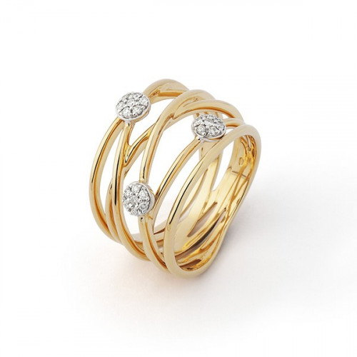 ROSE GOLD AND DIAMONDS RING - R6481FMKO14