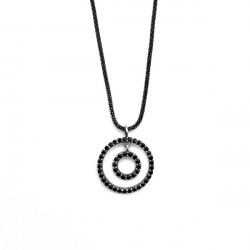 BLACK CIRCLE SUNFIELD NECKLACE - CL063952